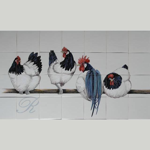 RH28-2, 4 Lakenvelder kippen