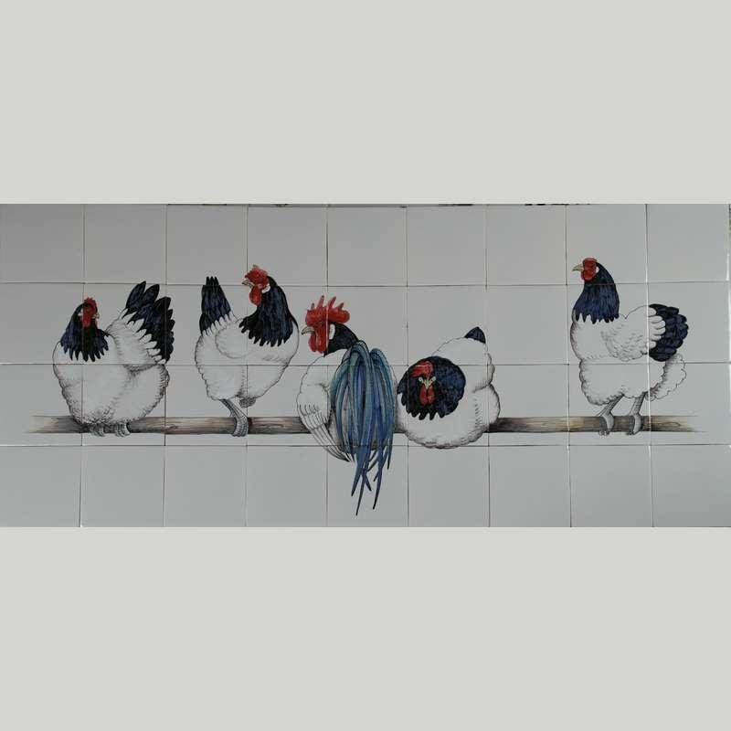 RH36-2, 5 Lakenvelder kippen