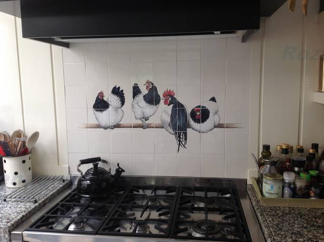4 Lakenvelder kippen