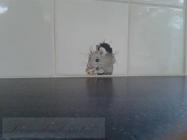 Muizen op tegels