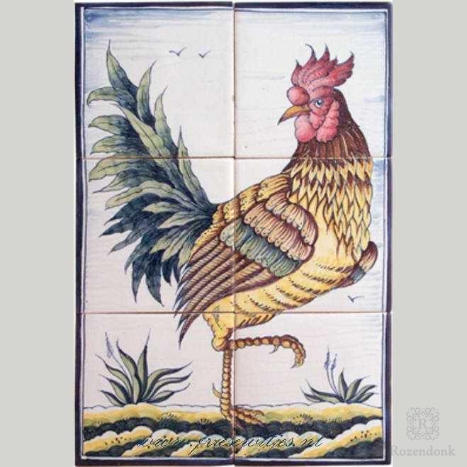RH6-22 Historische haan en hen