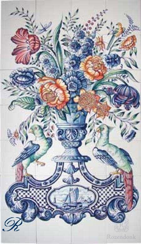RF28-4 vaas met bloemen