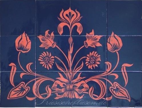 RH20-20 Floraal Art deco motief