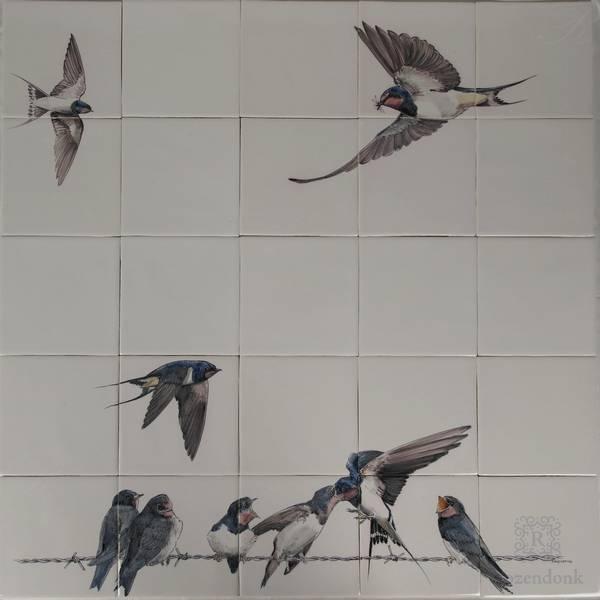 RH25-3 Zwaluwen op prikkeldraad