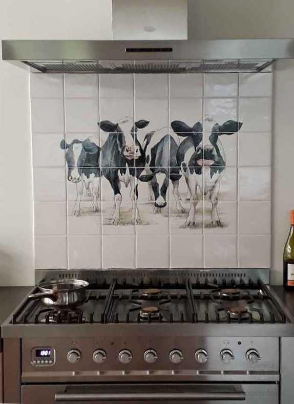 Koeien in de keuken