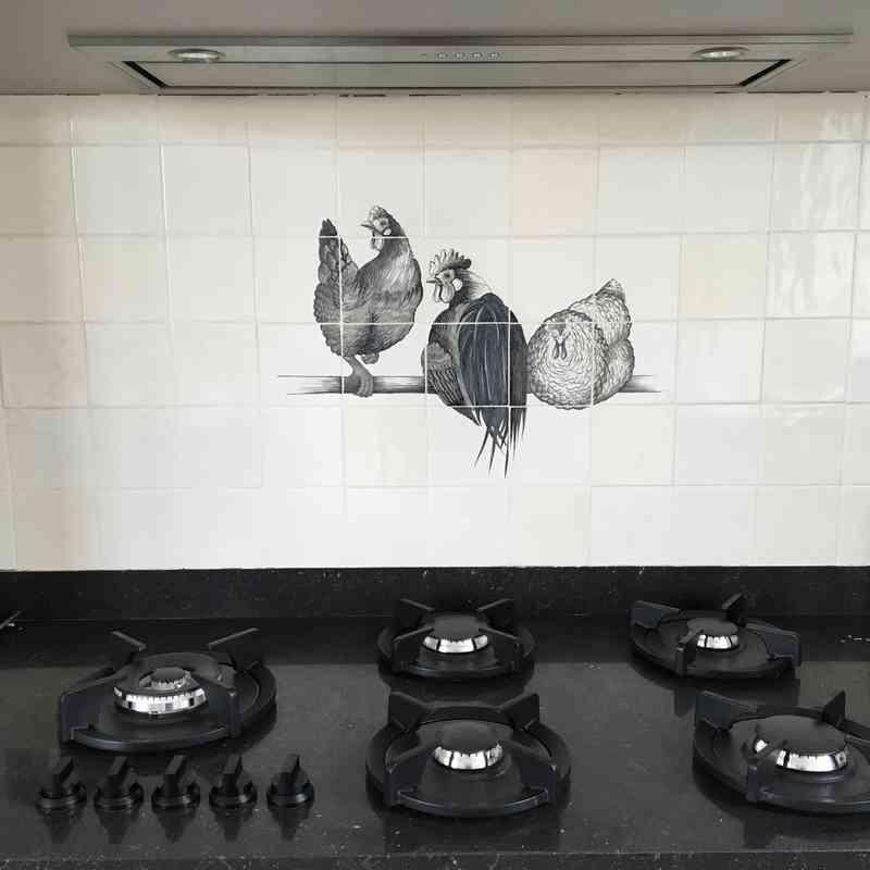 Kippen in zwart-wit