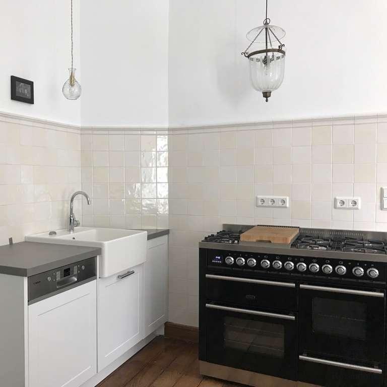 Keukenwand met de warme mix en profiel A