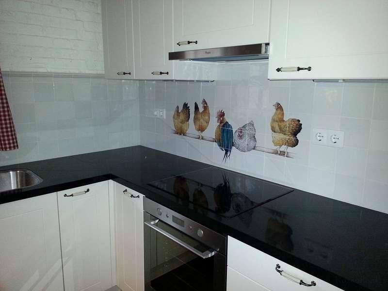 5 kippen op stok