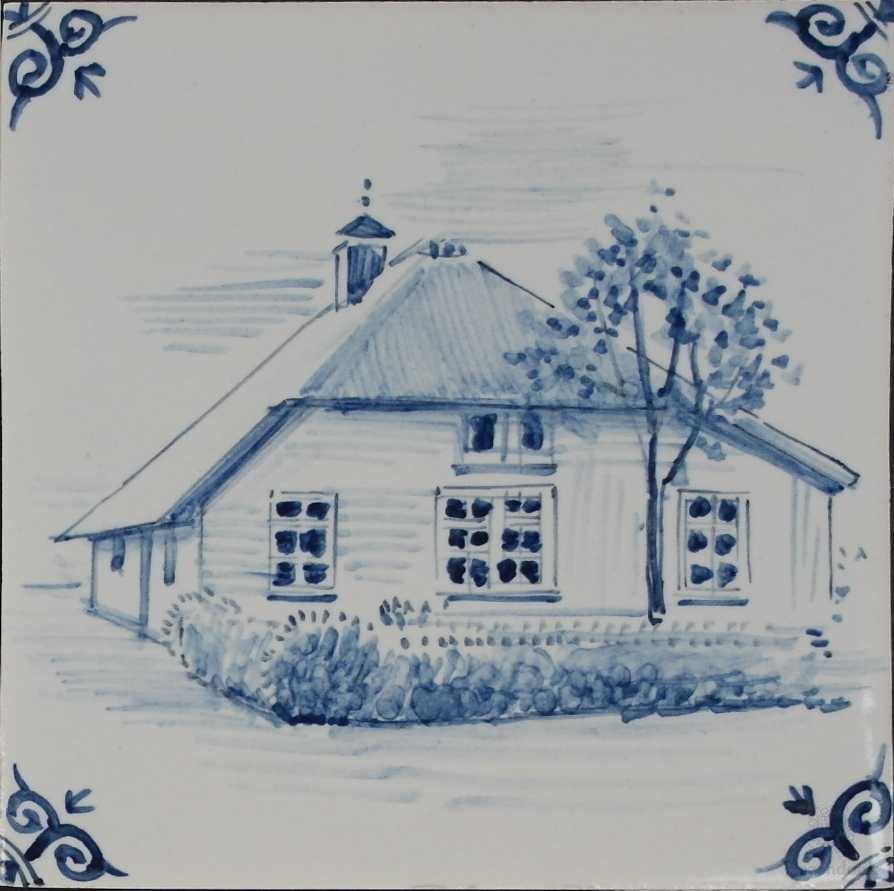 Uw huis op een tegel geschilderd