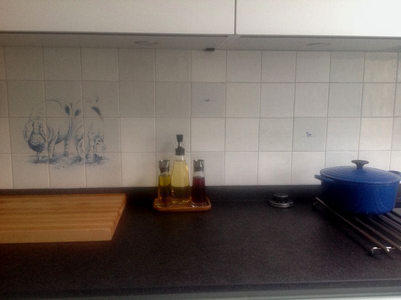 Dieren op de keukenmuur