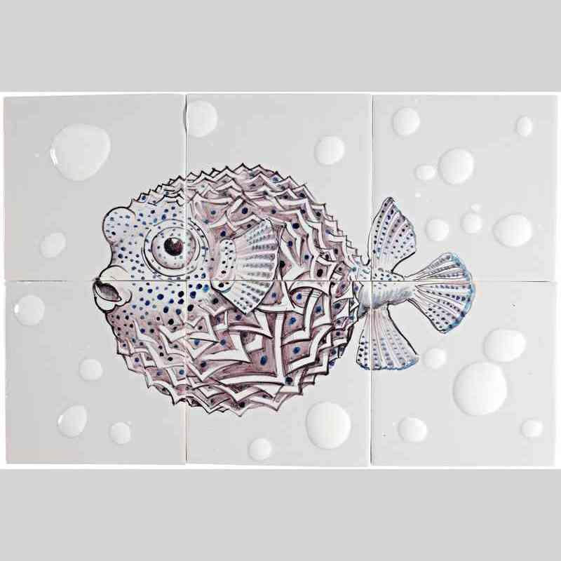 RH6-Fisk11 op 6 tegels