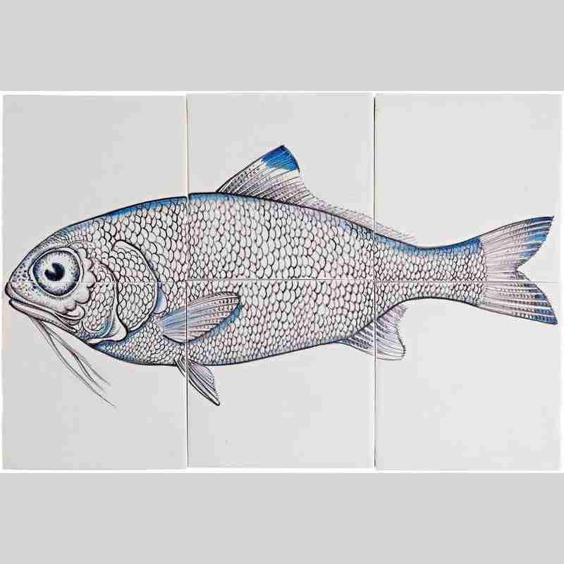 RH6- Fisk5 op 6 tegels