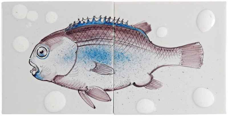 Fish12 auf 2 Fliesen