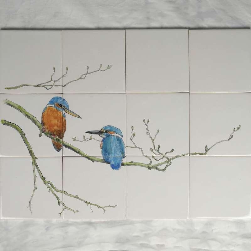 RH12-3 IJsvogels op een tak