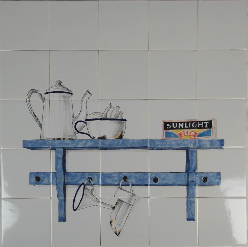 RH20-25 Plank met zeep en emaille