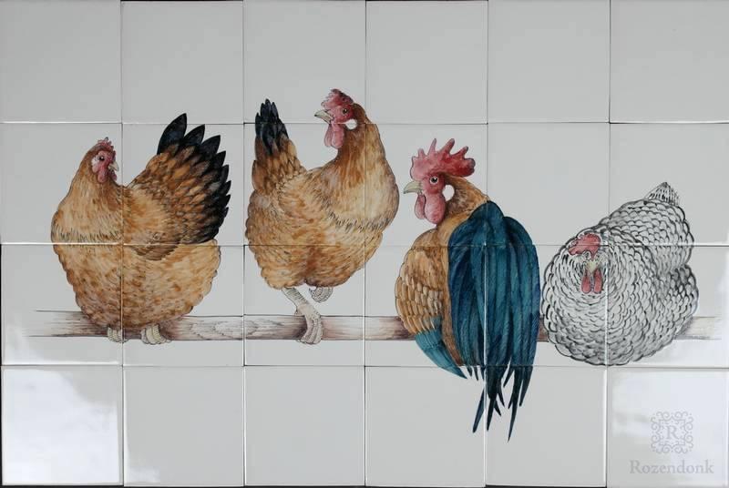 RH28-1, 4 Kippen op stok