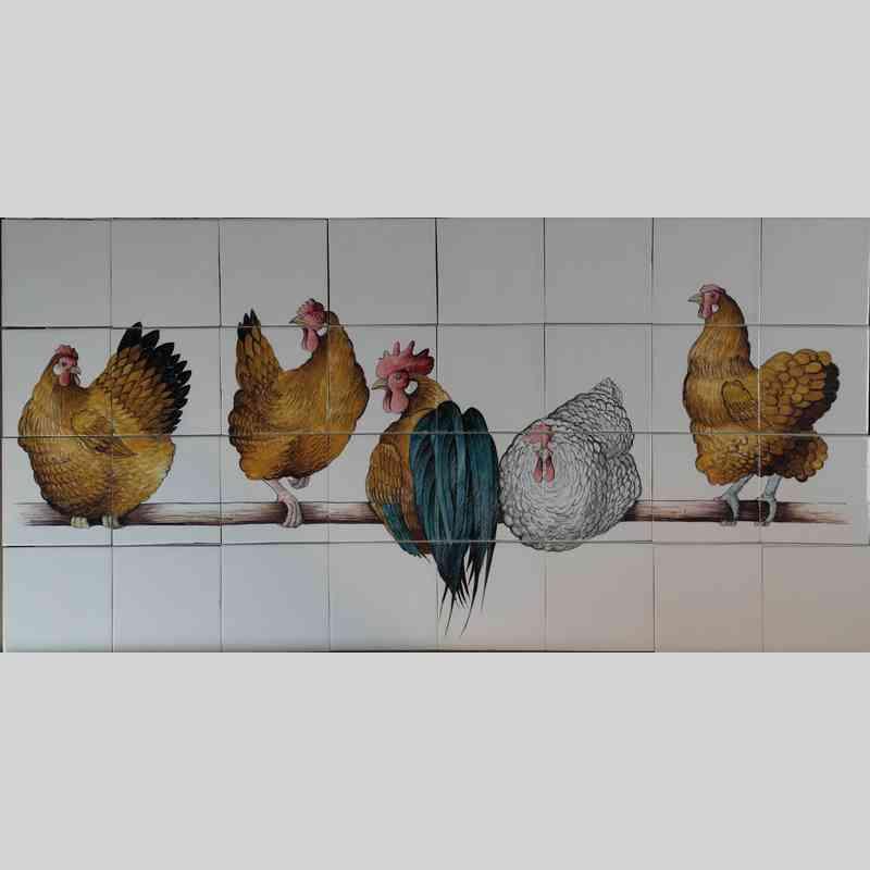 RH36-1, 5 kippen op stok