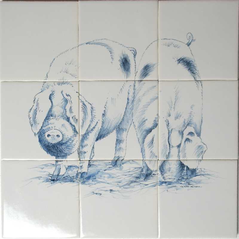 RH4-13 Scharrel varkens
