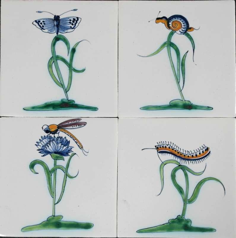 RM1-9, Collaert bloemen met insecten