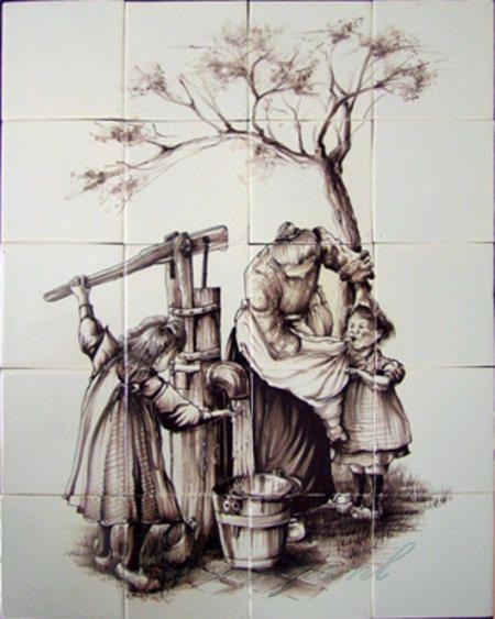 RH12-41 Moeder en kinderen