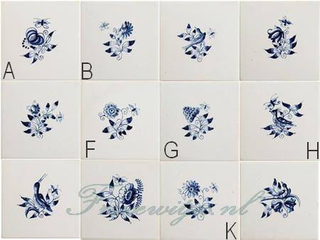 RF1-7 Kleine Friese bloemen