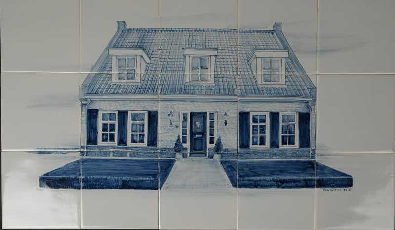 Uw huis vereeuwigt op tegels