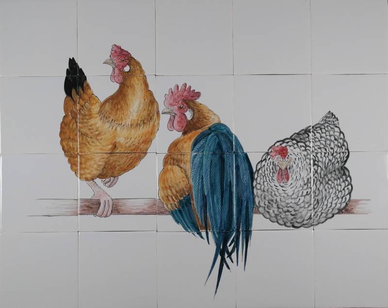 RH20-1, 3 Kippen op stok