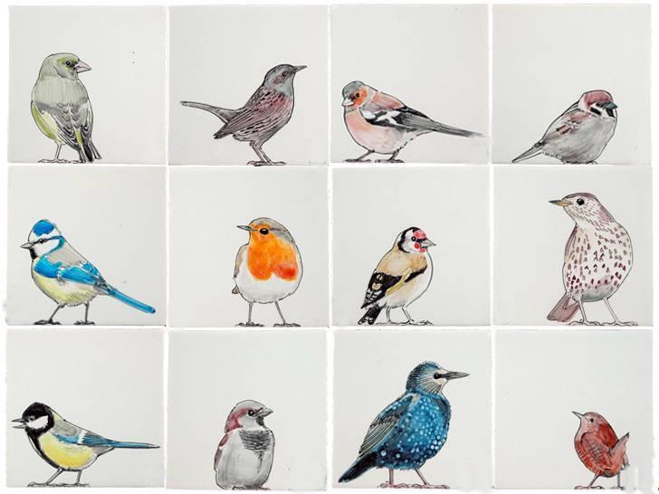 RH1-38 Vogels in de tuin