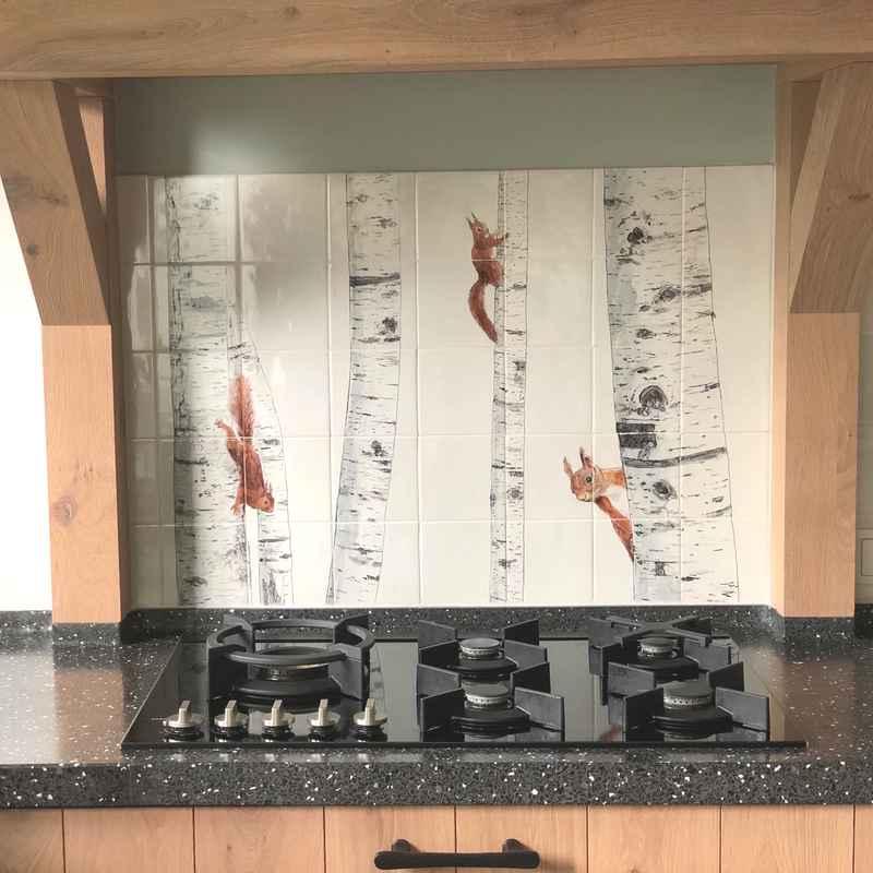 Eekhoorns in de keuken