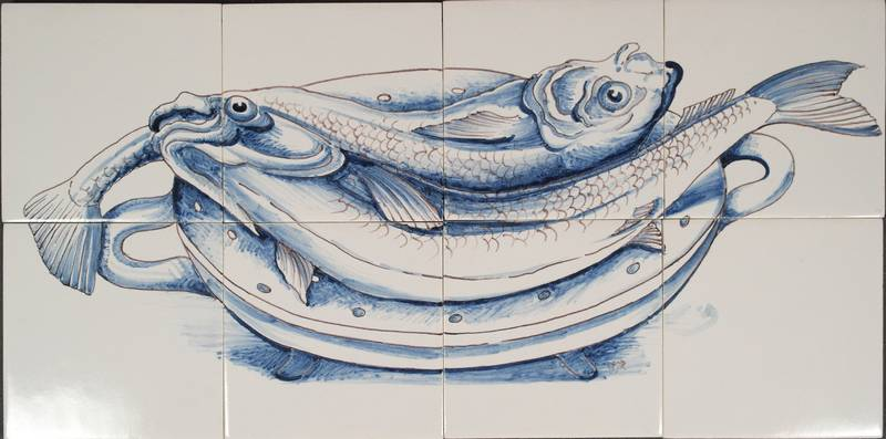 RH8 schaal met twee vissen