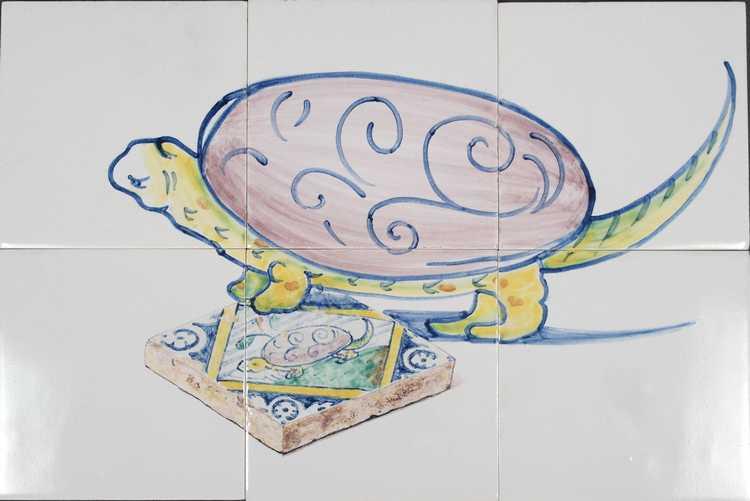Schildpad op 6 tegels