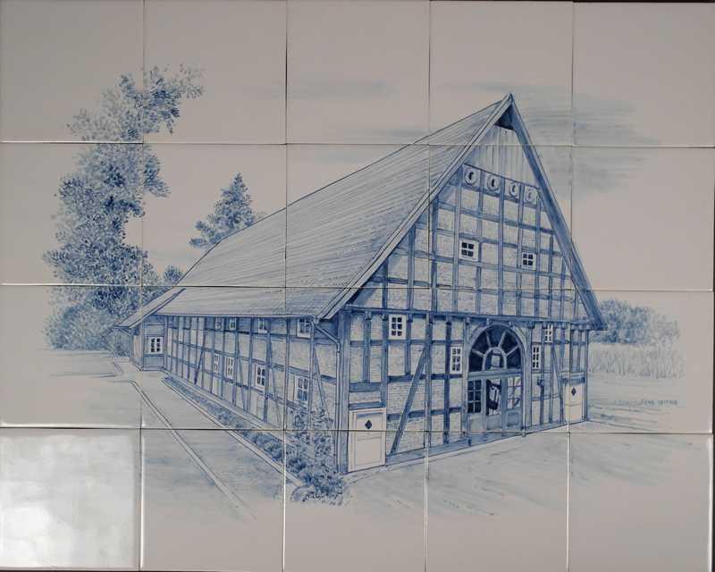 Duitse vakwerk boerderij