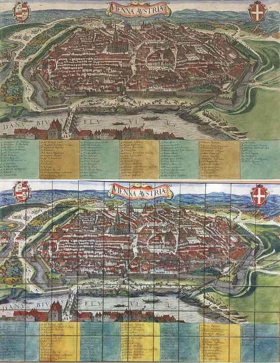 Stadsplattegrond van Wenen