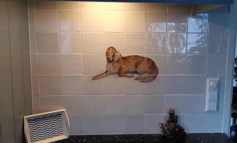 De hond op 12 tegels