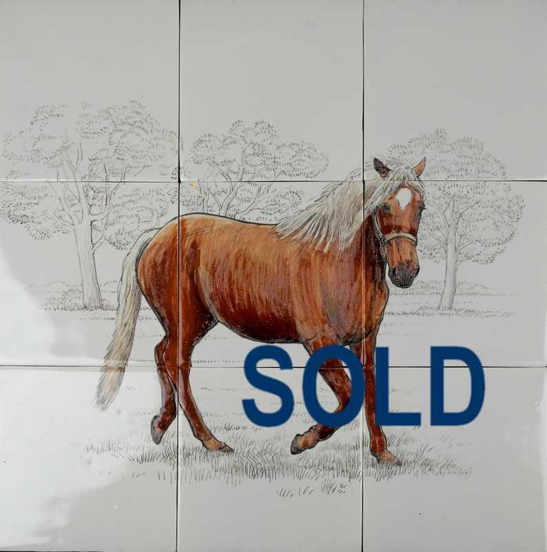Paard op 9 tegels