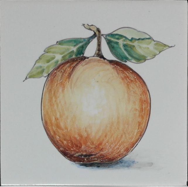 RH1-7 Fruit, elk op 1 tegel geschilderd